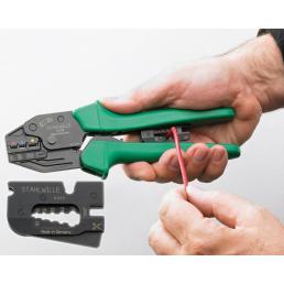 STAHLWILLE Dispositivo per spellare e tagliare per spellare l'isolamento di fili di 0,5 a 6 mm - 1