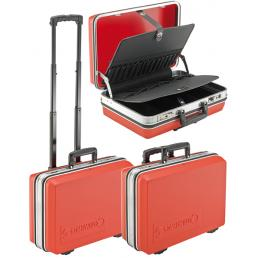 STAHLWILLE Valigetta rigida VDE, con sistema di rotelle trolley rimovibile, telaio in alluminio - 1