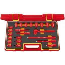 """STAHLWILLE Assortimento di chiavi a bussola VDE 3/8"""" 23 pezzi - 1"""