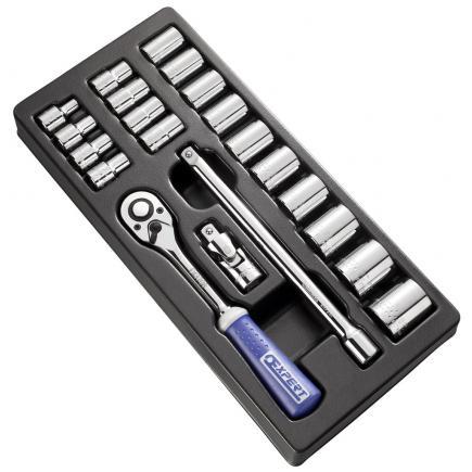 """EXPERT Modulo di bussole e accessori 1/2"""" metrici 21 pezzi - 1"""