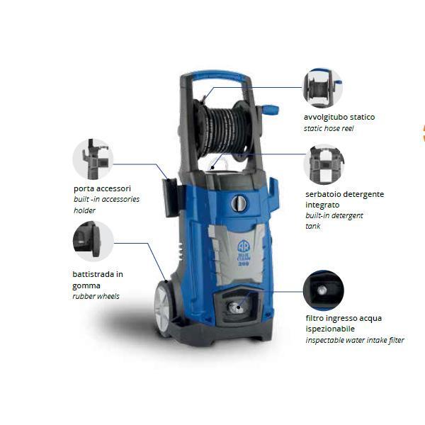 ANNOVI REVERBERI 14588 - AR 399 Idropulitrice professionale ad acqua fredda, 140 bar, 450 l/h, 2000W - 1