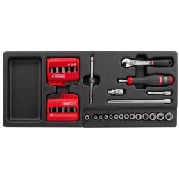 USAG 519/613AEA Assortimento con cricchetto, bussole ed inserti (41 pz) | Mister Worker®