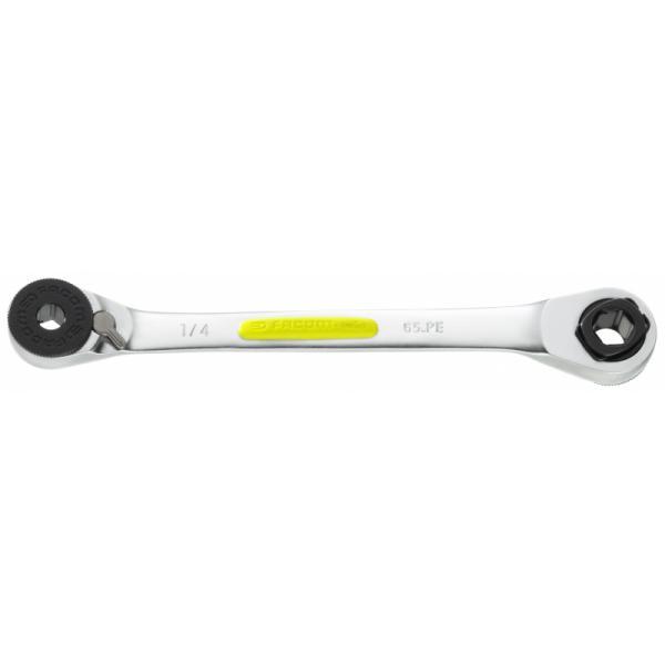 """FACOM 65.PERFID - Chave a doppio cricchetto porta inserti 1/4"""" 5/16"""" RFID - 1"""