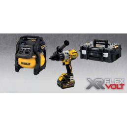 DeWALT DeWalt XR FLEXVOLT DCZ205T2T IT KIT Compressore + Trapano a percussione + 2 Batterie 6.0AH - 1