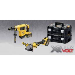DeWALT DeWalt XR FLEXVOLT DCZ206X2T IT KIT Martello SDS + Smerigliatrice + 2 batterie 9.0Ah - 1