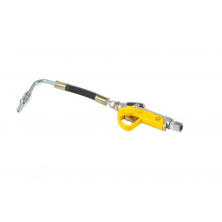 MECLUBE Pistola distribuzione olio Estremità flessibile 90° Valvola antigoccia automatica Ø 14 mm - 1