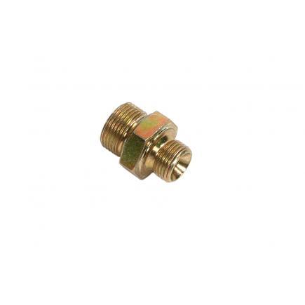 """MECLUBE Nipple di riduzione in acciaio znt M1""""G x M1/2""""G - 1"""