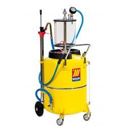 MECLUBE Aspiratore pneumatico per olio esausto 120 l con precamera - 1