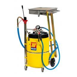 MECLUBE Aspiratore recuperatore olio esausto a pantografo 65 l per AUTO MOTOCICLI - 1