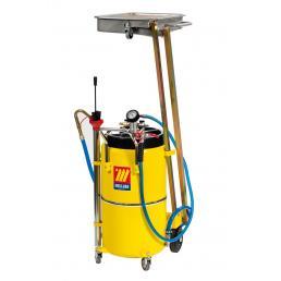 MECLUBE Aspiratore recuperatore pneumatico per olio esausto a pantografo 90 l - 1