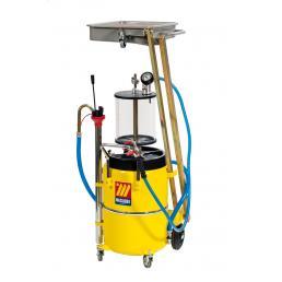 MECLUBE Aspiratore recuperatore pneumatico per olio esausto a pantografo 65 l con precamera - 1