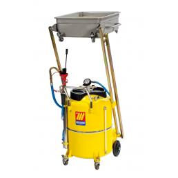 MECLUBE Aspiratore recuperatore pneumatico per olio esausto a pantografo 120 l per AUTOCARRI - 1