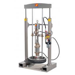 MECLUBE Kit pressa sollevatore lubrificanti per fusti da 180 220 kg Portata 100 l/min - 1