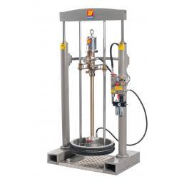 MECLUBE Kit pressa sollevatore lubrificanti per fusti da 180 220 kg Portata 35 l/min - 1