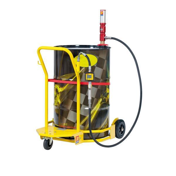 MECLUBE 022-1299-C00 - Completo olio carrellato per fusti da 180 220 l Mod.503 R 3:1 Portata 25 l/min - 1