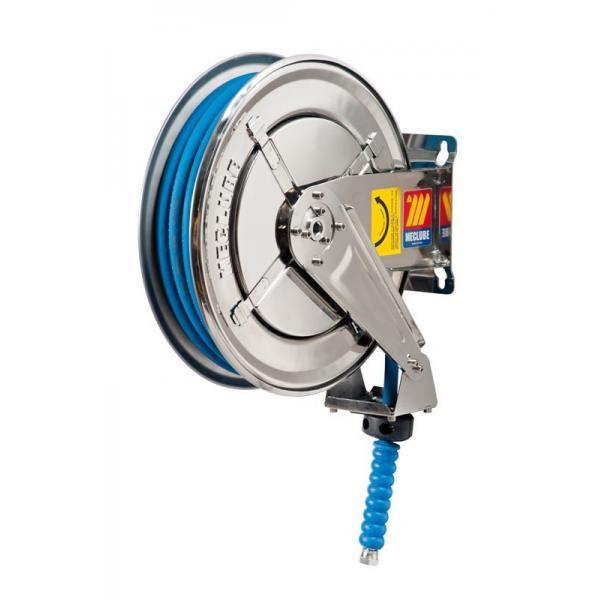 MECLUBE 070-2204-215 - Avvolgitubo fisso INOX AISI 304 PER ACQUA 150° C 200 bar Mod. FX 400 CON TUBO 15 m ø 5/16 - 1