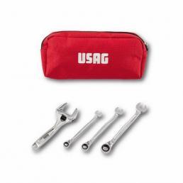 USAG Astuccio portautensili con chiavi a rullino e chiavi a cricchetto (4 pz) - 1