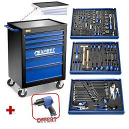 """EXPERT Carrello X208 6 cassetti, con 208 utensili e avvitatore 1/2"""" - 1"""