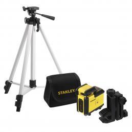 STANLEY Kit livella laser Cross 360° + Treppiede fotografico + Borsa da trasporto - 1