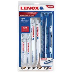 LENOX Kit lame per sega a gattuccio 12 pezzi, per demolizione - 1