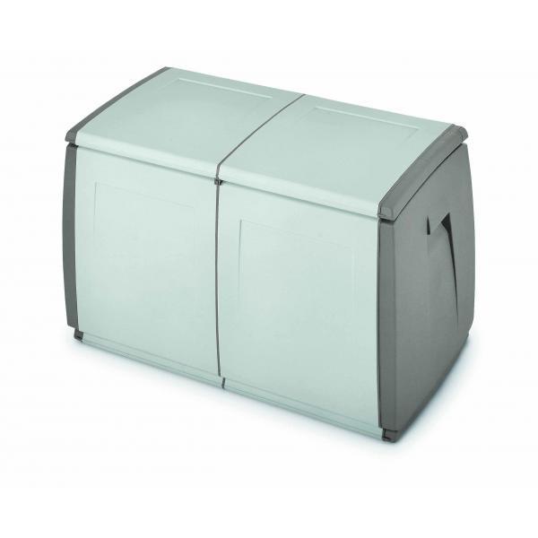 TERRY 1002733 - IN OUT BOX 97 H GRIGIO/TORTORA - Baule multiuso 2 moduli 240 lit. 97x54x57 cm Grigio/Tortora - 1