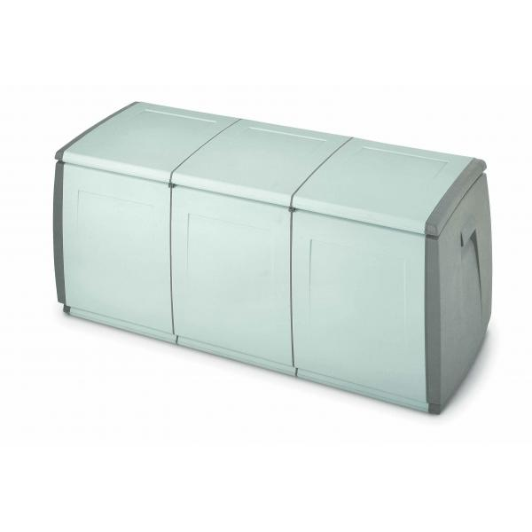 TERRY 1002735 - IN OUT BOX 140 H GRIGIO/TORTORA - Baule multiuso 3 moduli 360 lit. 139x54x57 cm Grigio/Tortora - 1