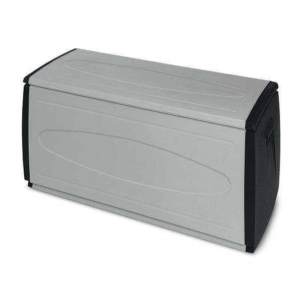 TERRY 1001892 - PRINCE BLACK120 QBLACK - Baule multiuso in plastica 1 modulo 308 lit. 120x54x57 cm Grigio/Nero - 1