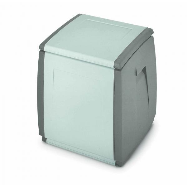 TERRY 1002731 - IN OUT BOX 55 H GRIGIO/TORTORA - Baule in resina 1 modulo 120 lit. 54x54x57 cm Grigio/Tortora - 1