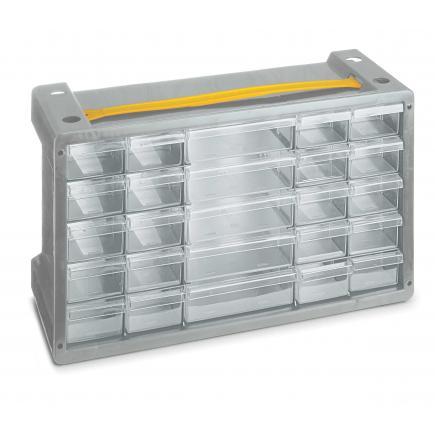 Cassettiere In Plastica Per Minuterie.Terry 1002258 Poker 25 Grigio Sky Cassettiera Portaminuterie In Plastica 25 Cassetti