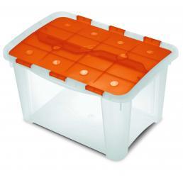 TERRY Contenitore multiuso - Arancio/Trasparente - 1