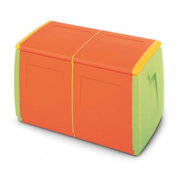 TERRY Baule multiuso in resina - 240 lit. - 97x54x57 cm - 2 moduli - 2