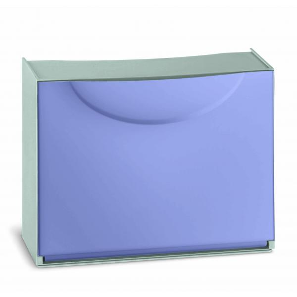 TERRY Scarpiera in plastica - Capacità 3 paia - Lilla/Grigio - 1