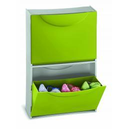 TERRY Scarpiera in plastica - Capacità 3 paia - Verde/Grigio - 2