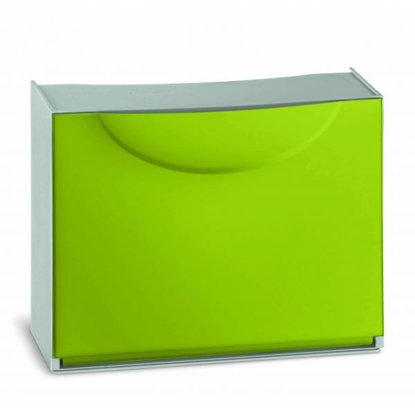 TERRY Scarpiera in plastica - Capacità 3 paia - Verde/Grigio - 3