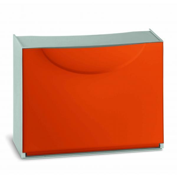 TERRY Scarpiera in plastica - Capacità 3 paia - Arancio/Grigio - 1