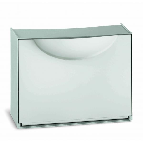 TERRY Scarpiera in plastica - Capacità 3 paia - Bianco/Grigio - 1