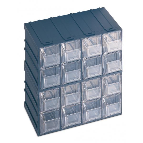 TERRY 1000015 - VISION 12 - Cassettiera portaminuteria con portaetichetta 16 cassetti 20,8x13,2x20,8 - 1