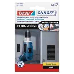 TESA Strisce autoadesive attacca/stacca con velcro 0.1 mt x 50 mm - 1