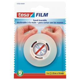 TESA Nastro adesivo trasparente tagliabile a mano 25 mt x 19 mm - 1