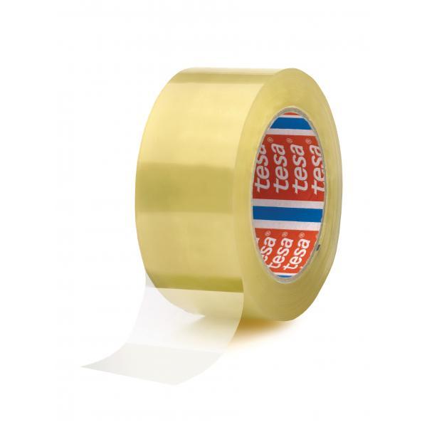 TESA Nastro adesivo per imballaggio rumoroso trasparente 66 mt x 50 mm - 1