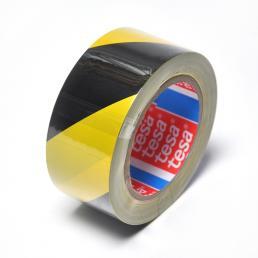 TESA Nastro adesivo per segnalazione di superfici in PVC giallo/nero - 1