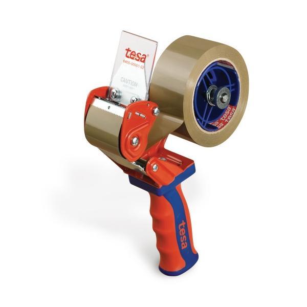 TESA Dispenser manuale per nastri adesivi per imballaggio con impugnatura in gomma - 1