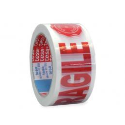 TESA Nastro adesivo per imballaggio con dicitura fragile e sigillo di sicurezza - 1