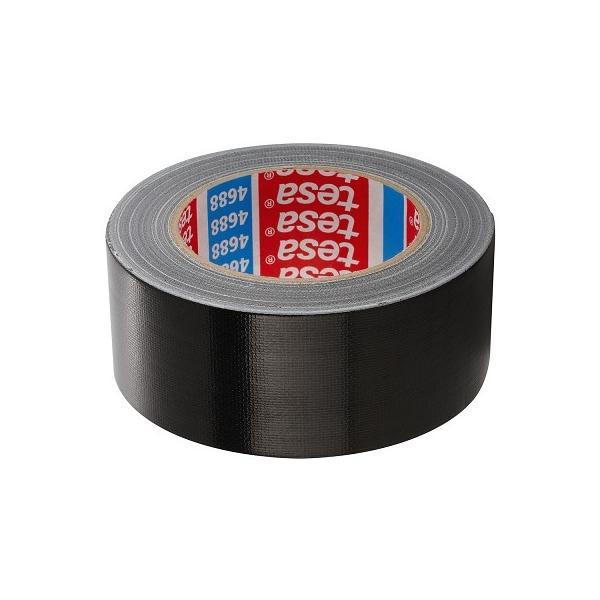 TESA Nastro telato standard rivestito in polietilene nero 50 mt x 50 mm - 1