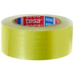 TESA Nastro telato standard rivestito in polietilene giallo 25 mt x 50 mm - 1