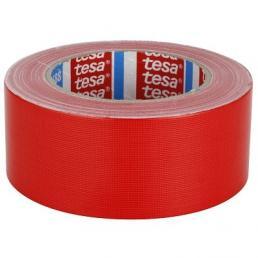 TESA Nastro telato standard rivestito in polietilene rosso 25 mt x 50 mm - 1