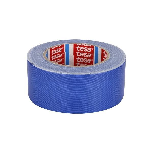 TESA Nastro telato standard rivestito in polietilene blu 25 mt x 50 mm - 1