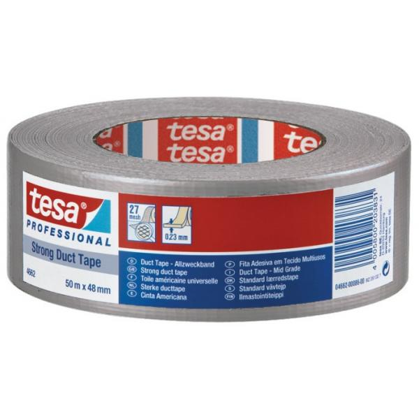 TESA Nastro telato extra forte in tessuto plastificato silver 50 mt x 48 mm - 1