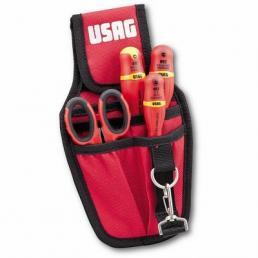 USAG Marsupio con assortimento per elettricisti (4 pz) - 1