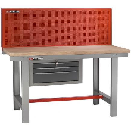 FACOM Maintenance workbench 1.5 m long with vertical panel - 1
